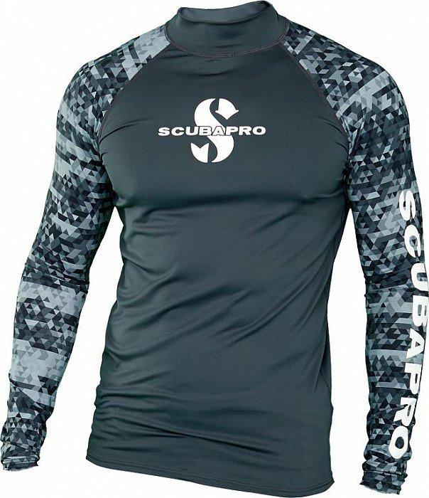 9d8acef74 Lycrové triko Scubapro RASH GUARD GRAPHITE UPF50, dlouhý rukáv - pánské