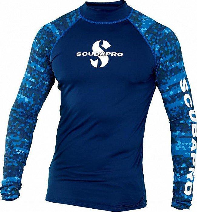 2b52a0f06 Lycrové oblečení Lycrová trička pánská Lycrové triko Scubapro RASH GUARD  AEGEAN UPF50, dlouhý rukáv - pánské