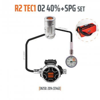 Regulátor R2 TEC1 stage set s manometrem do 40% EN250:2014